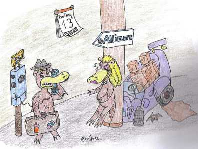 Das Schnabeltier ruft nach einem Autounfall bei der Allianz an - Bild von Ara (Zum Vergrößern anklicken!)