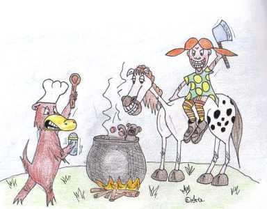 Pippi und das Schnabeltier - Bild von Ara (Zum Vergrößern anklicken!)